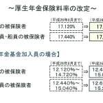 厚生年金保険料率が改定になりました【平成26年9月分~】
